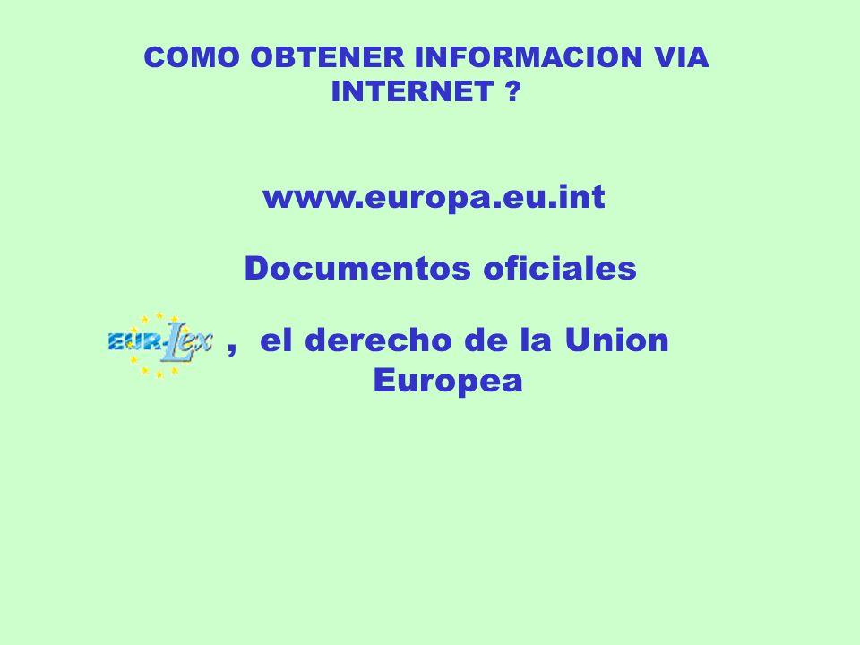 COMO OBTENER INFORMACION VIA INTERNET