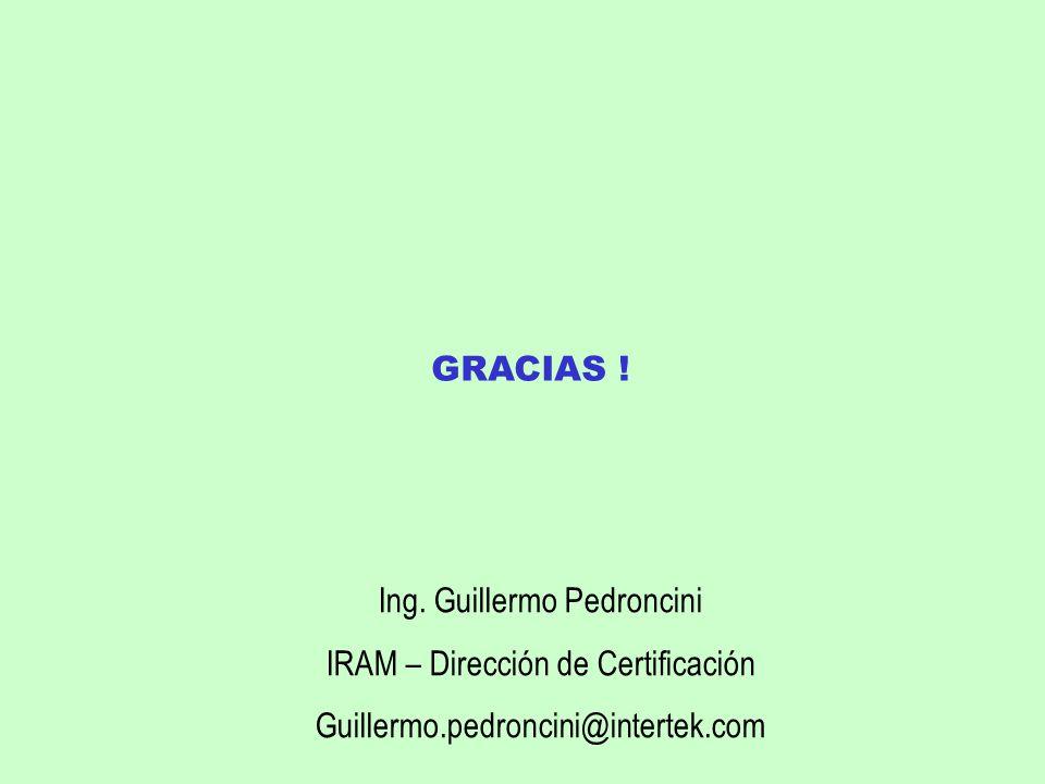 Ing. Guillermo Pedroncini IRAM – Dirección de Certificación