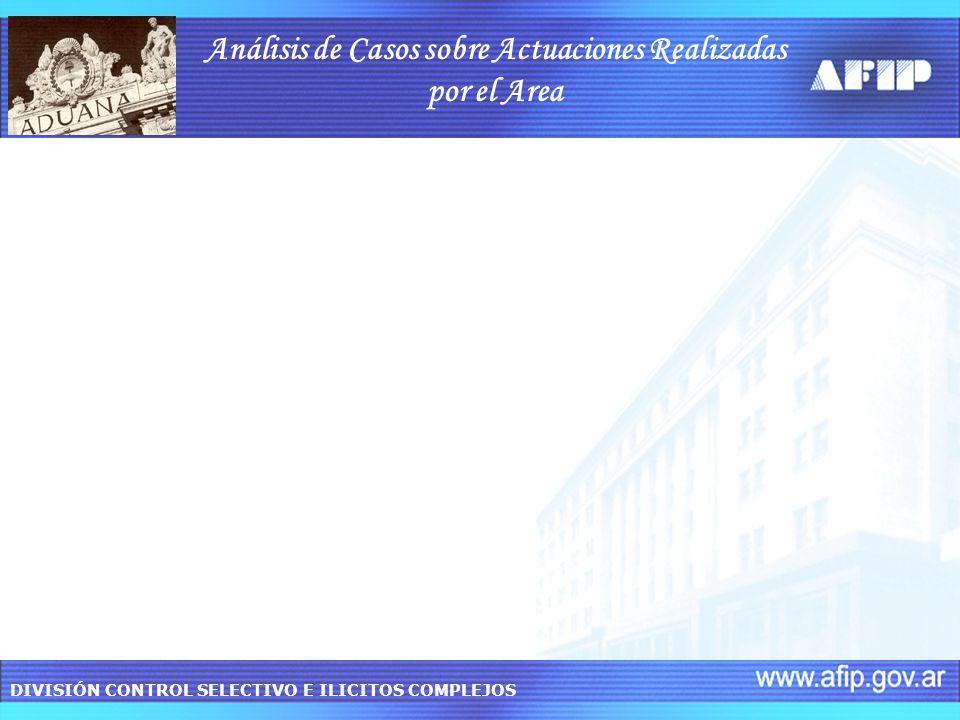 Análisis de Casos sobre Actuaciones Realizadas por el Area