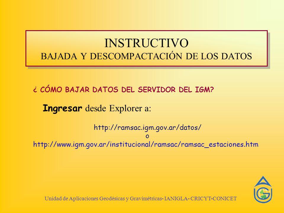 INSTRUCTIVO BAJADA Y DESCOMPACTACIÓN DE LOS DATOS