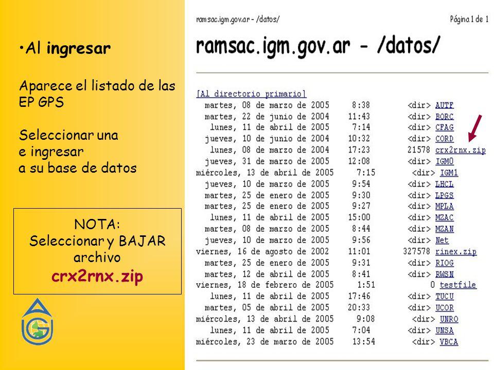 NOTA: Seleccionar y BAJAR archivo crx2rnx.zip