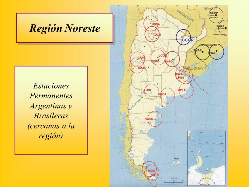 Estaciones Permanentes Argentinas y Brasileras (cercanas a la región)