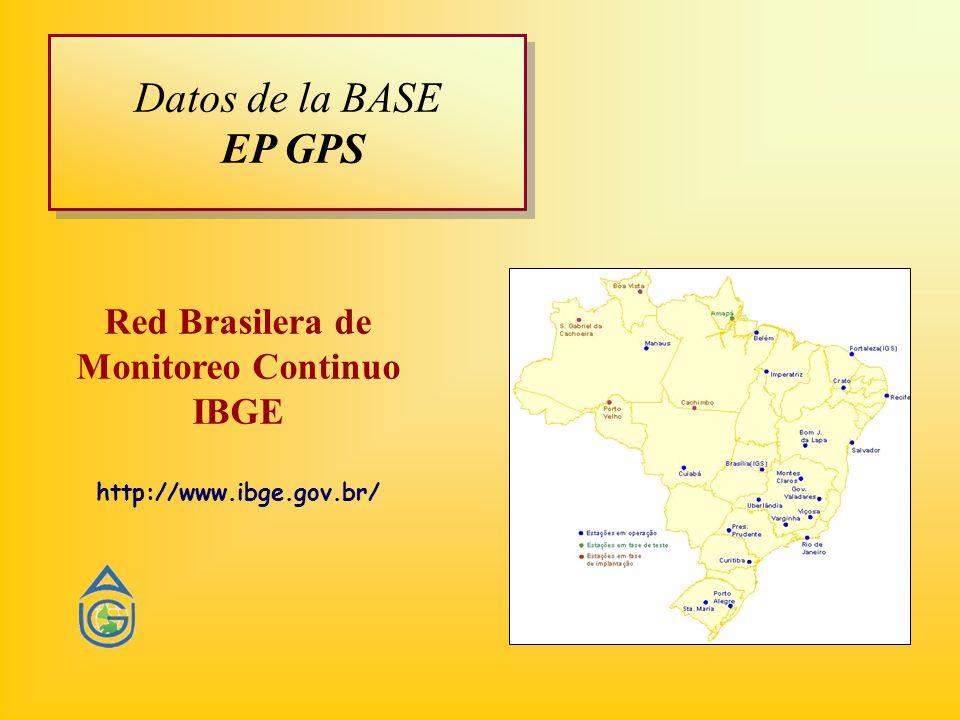 Red Brasilera de Monitoreo Continuo IBGE http://www.ibge.gov.br/