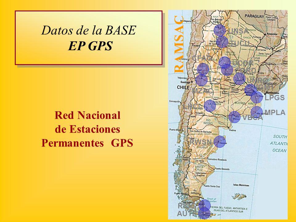 Red Nacional de Estaciones Permanentes GPS