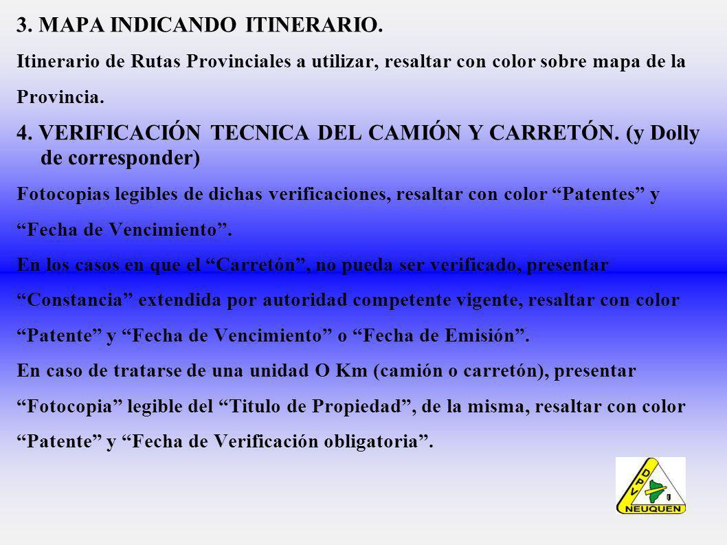 3. MAPA INDICANDO ITINERARIO.