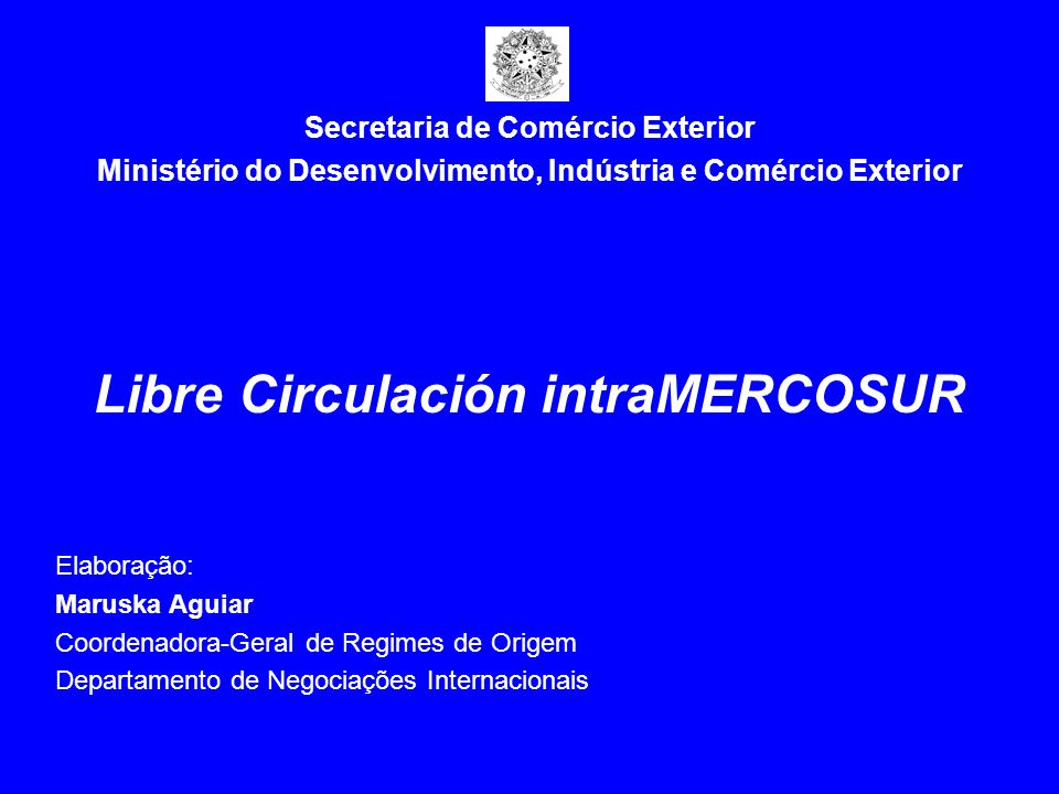 Libre Circulación intraMERCOSUR