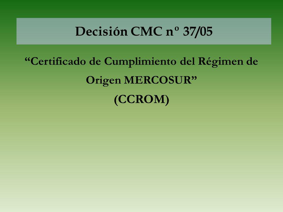 Certificado de Cumplimiento del Régimen de