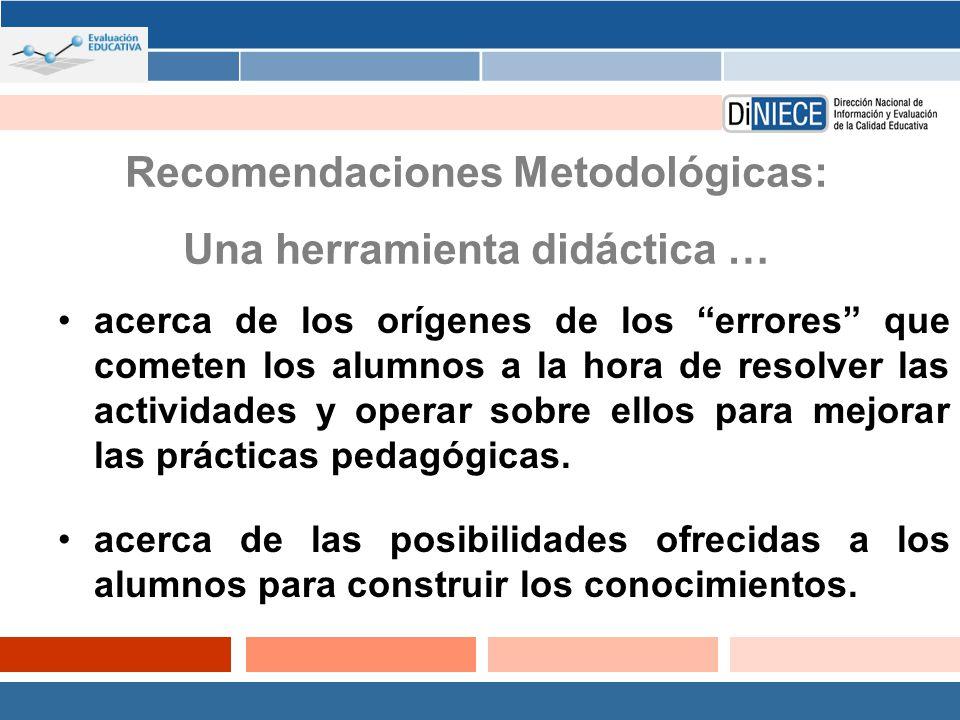 Recomendaciones Metodológicas: Una herramienta didáctica …