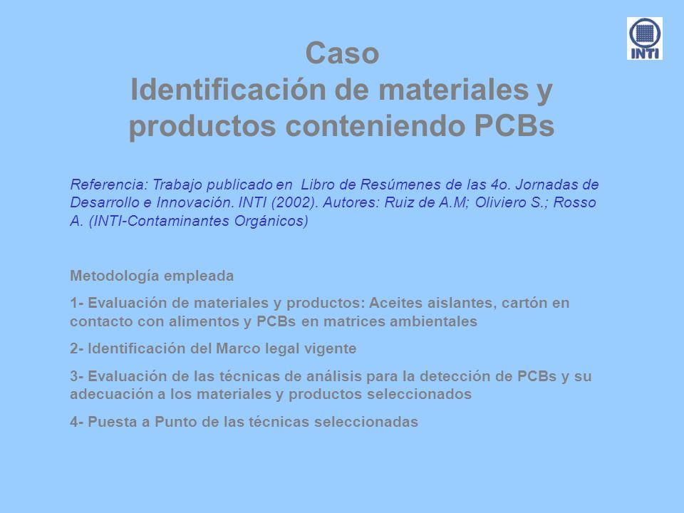 Caso Identificación de materiales y productos conteniendo PCBs