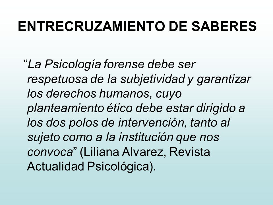 ENTRECRUZAMIENTO DE SABERES