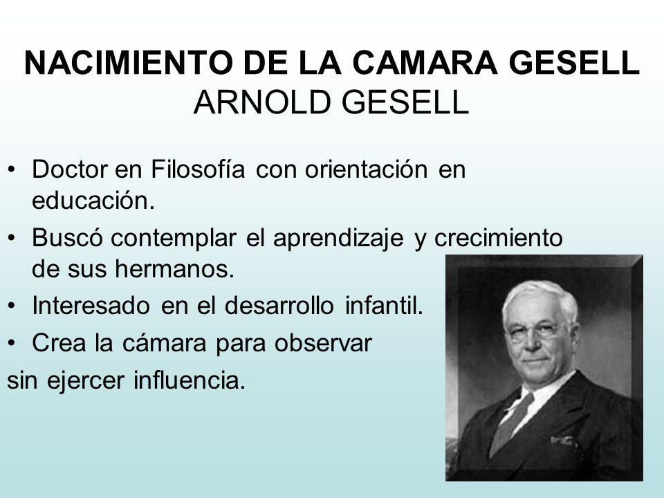 NACIMIENTO DE LA CAMARA GESELL ARNOLD GESELL