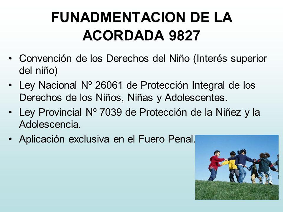 FUNADMENTACION DE LA ACORDADA 9827