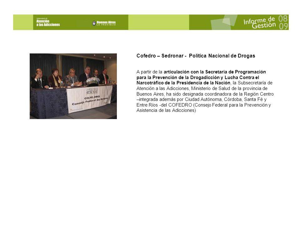 Cofedro – Sedronar - Política Nacional de Drogas