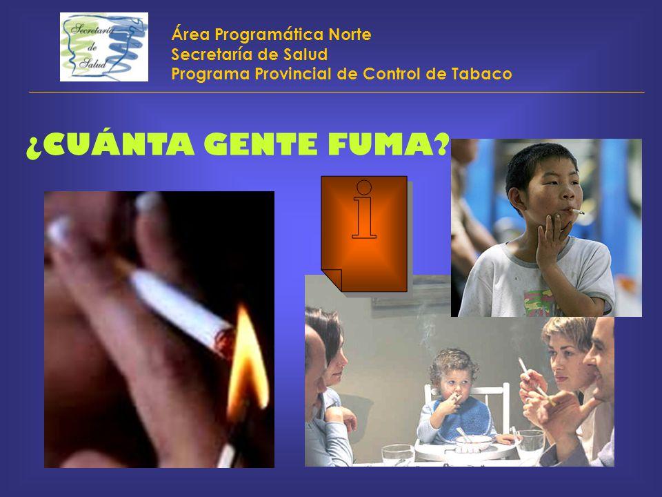 ¿CUÁNTA GENTE FUMA Área Programática Norte Secretaría de Salud