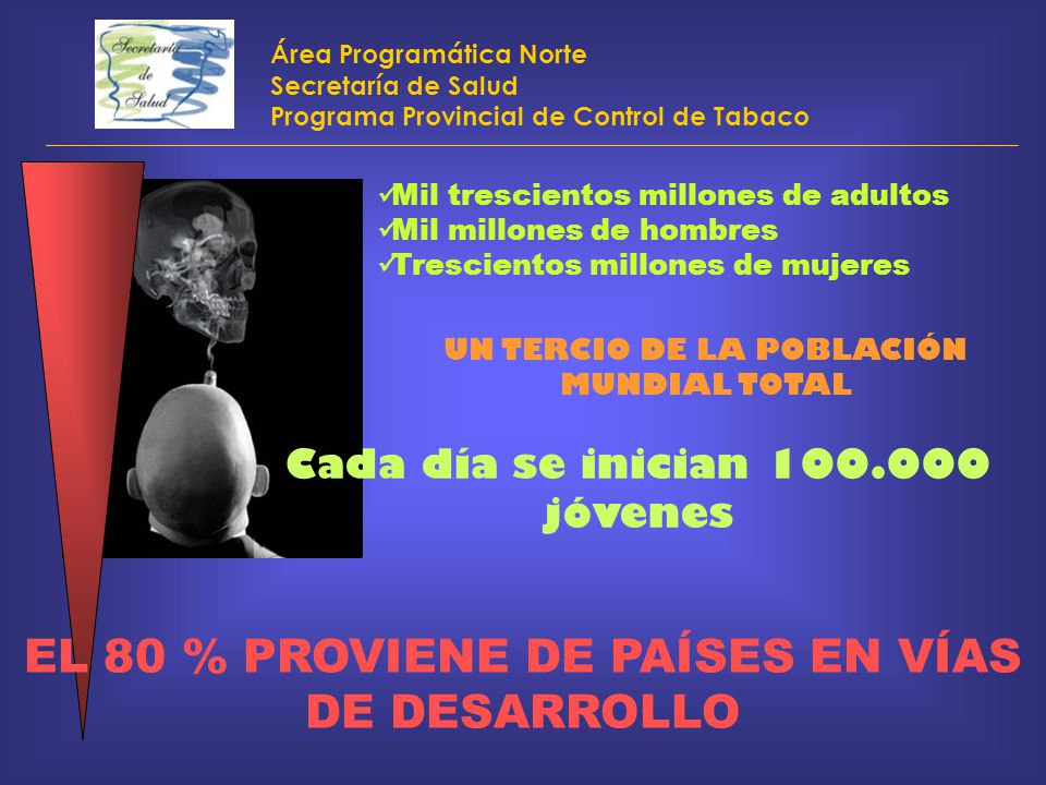 EL 80 % PROVIENE DE PAÍSES EN VÍAS DE DESARROLLO