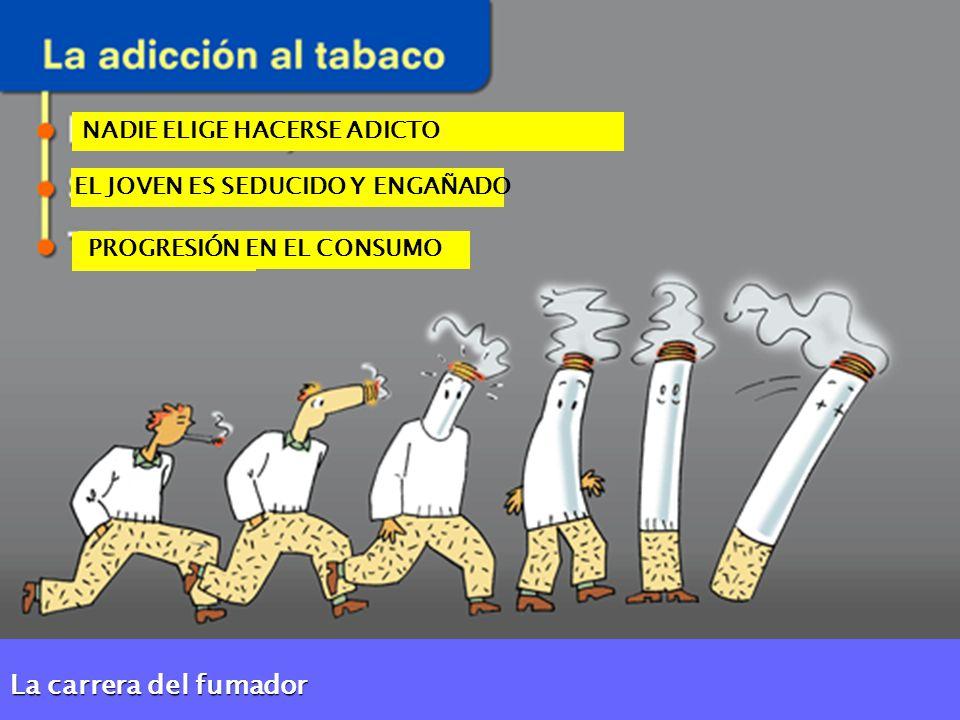 La carrera del fumador NADIE ELIGE HACERSE ADICTO