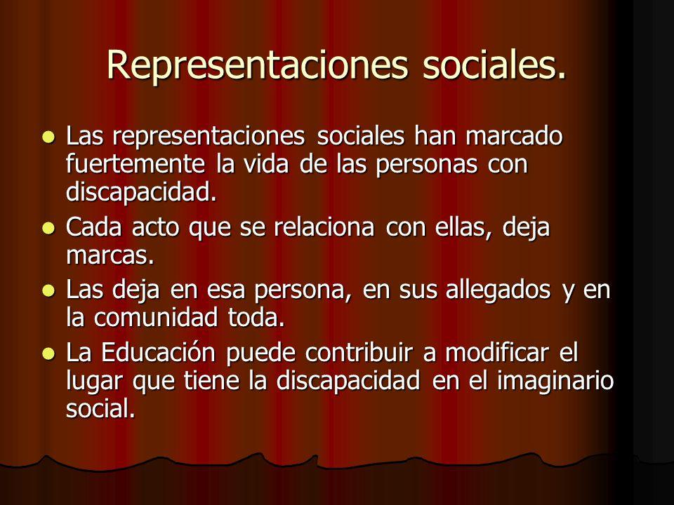 Representaciones sociales.