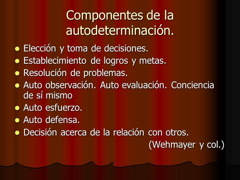 Componentes de la autodeterminación.
