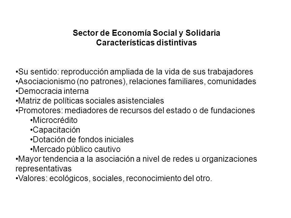 Sector de Economía Social y Solidaria Características distintivas