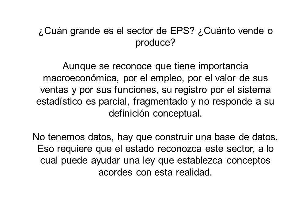 ¿Cuán grande es el sector de EPS ¿Cuánto vende o produce