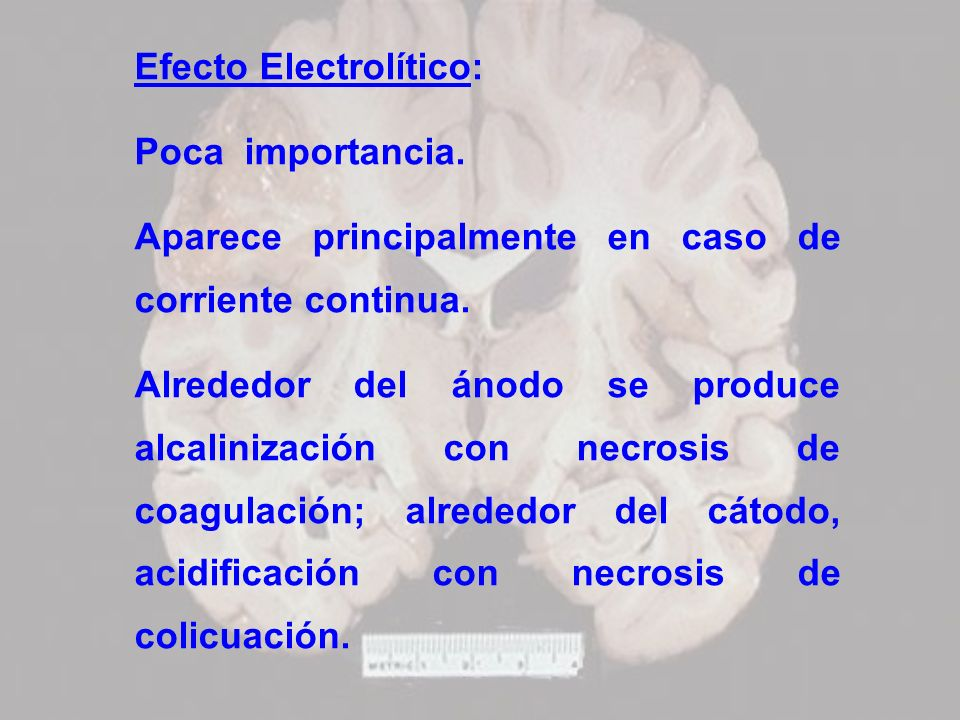 Efecto Electrolítico: