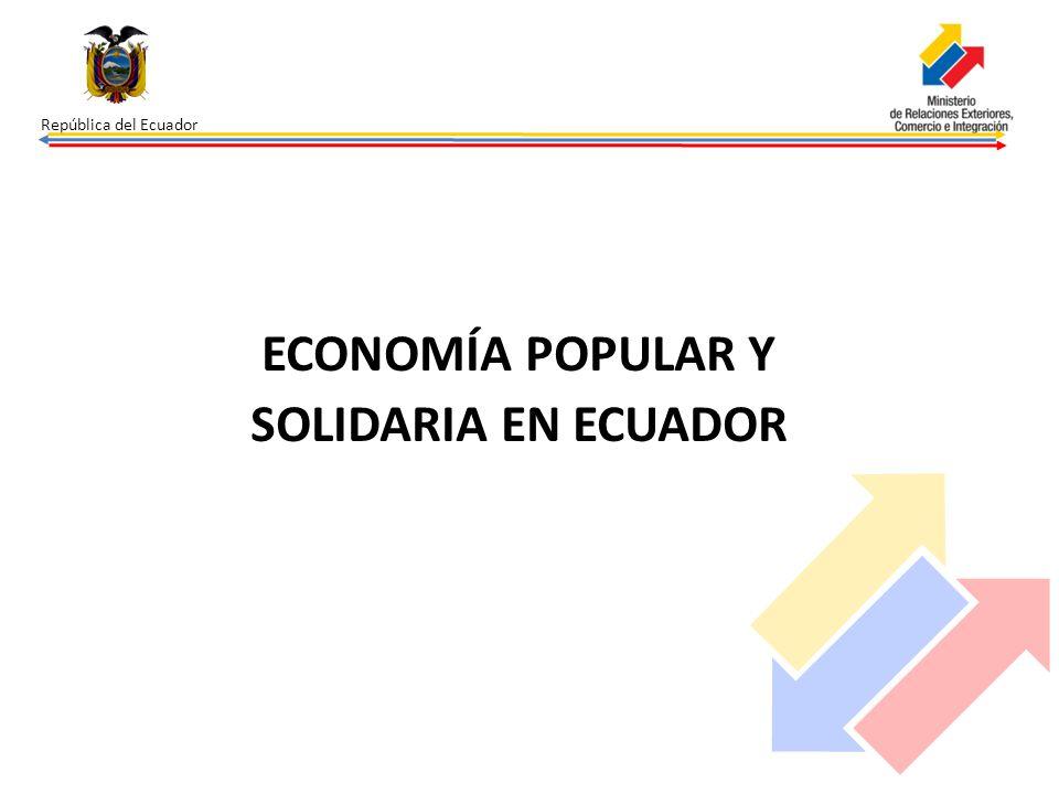 ECONOMÍA POPULAR Y SOLIDARIA EN ECUADOR