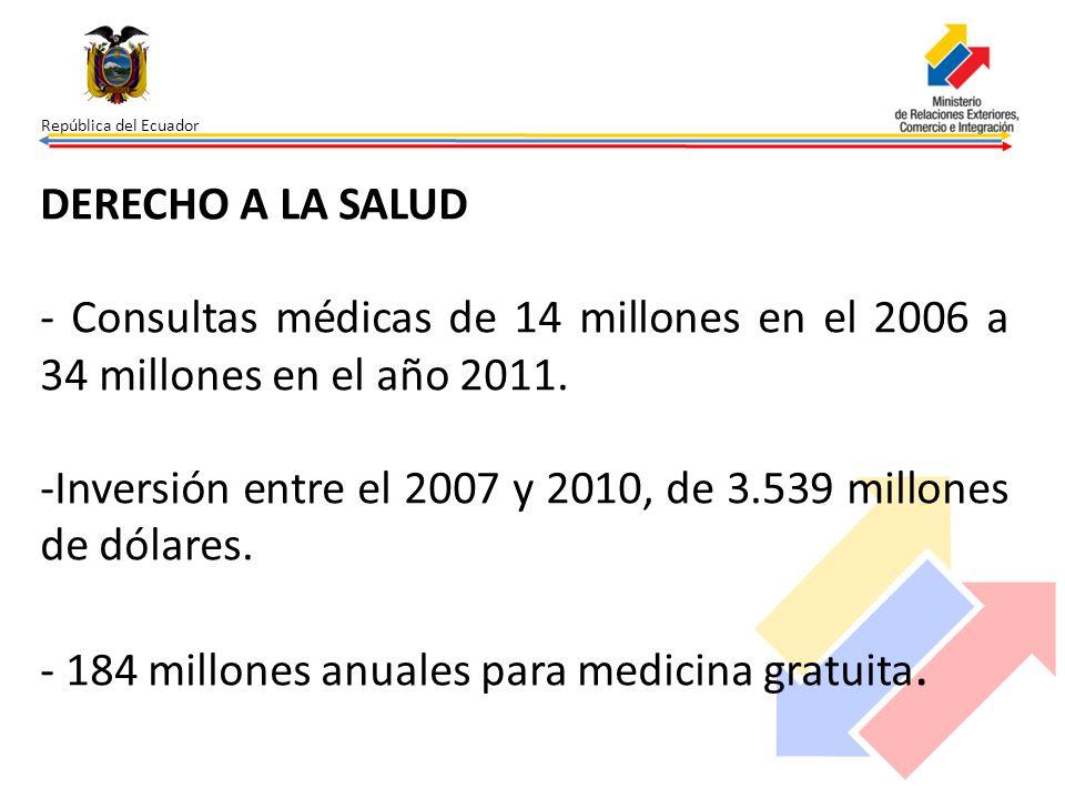 -Inversión entre el 2007 y 2010, de 3.539 millones de dólares.