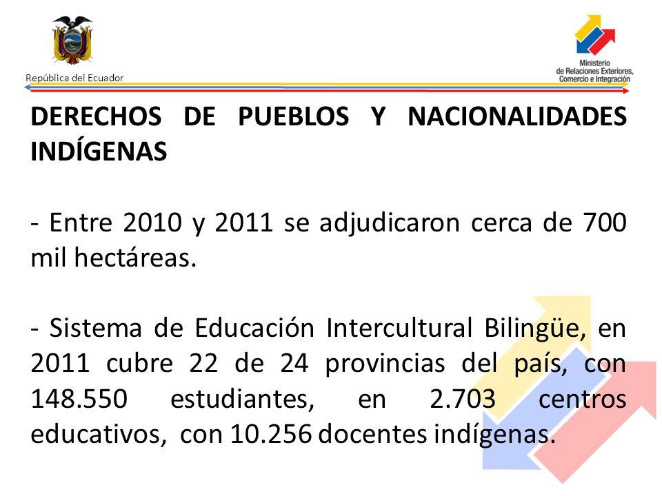 DERECHOS DE PUEBLOS Y NACIONALIDADES INDÍGENAS