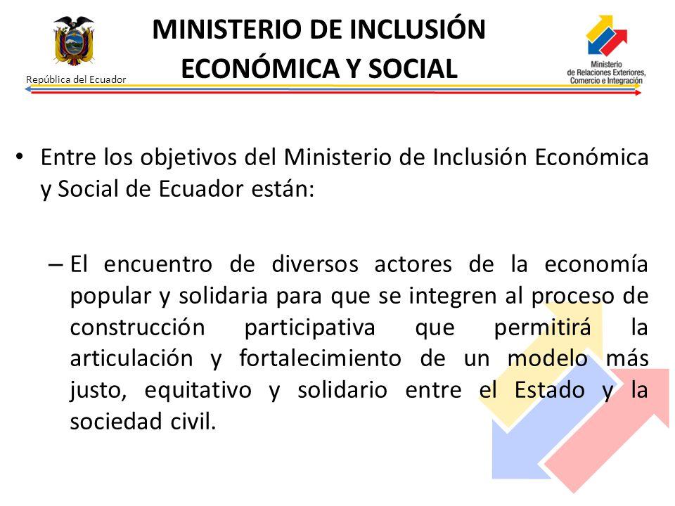 MINISTERIO DE INCLUSIÓN