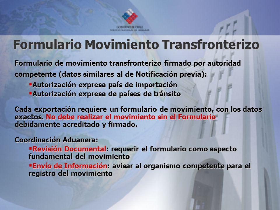 Formulario Movimiento Transfronterizo