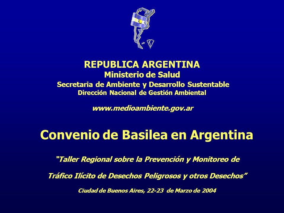 Convenio de Basilea en Argentina