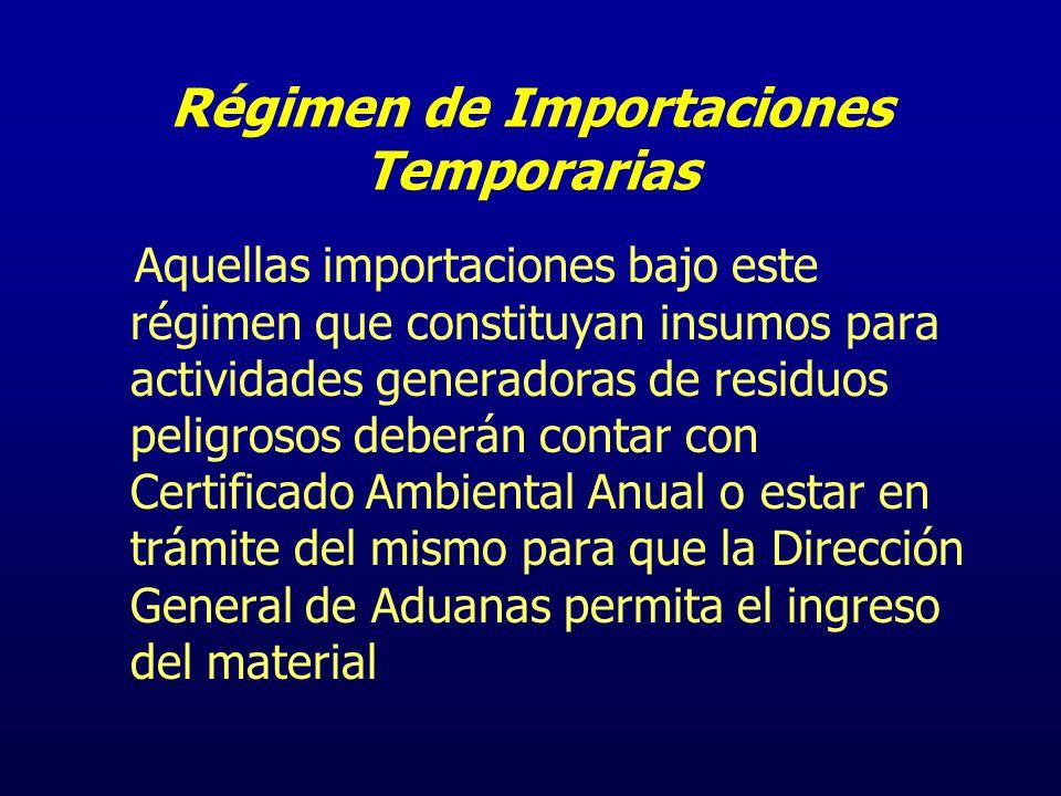Régimen de Importaciones Temporarias