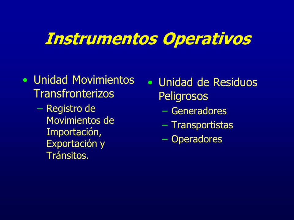 Instrumentos Operativos