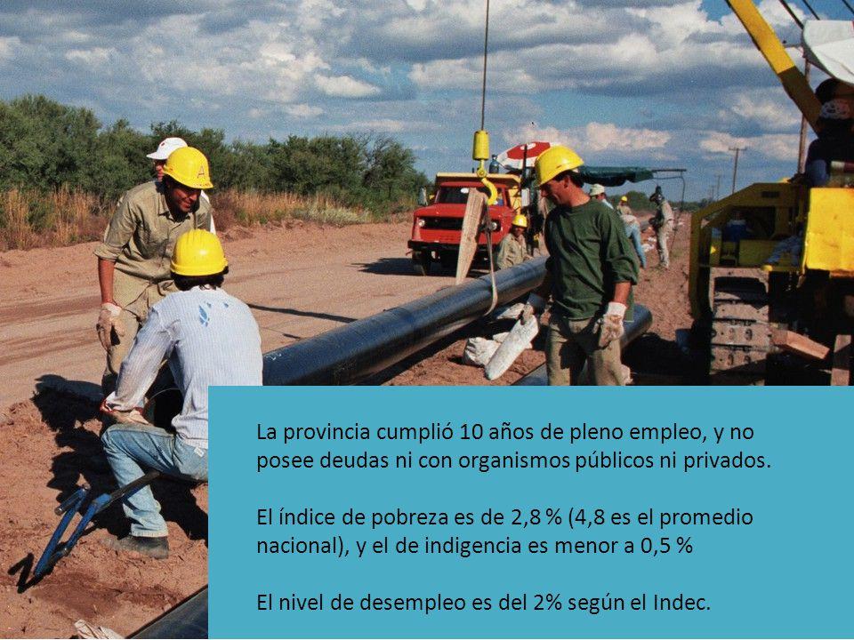 La provincia cumplió 10 años de pleno empleo, y no posee deudas ni con organismos públicos ni privados.