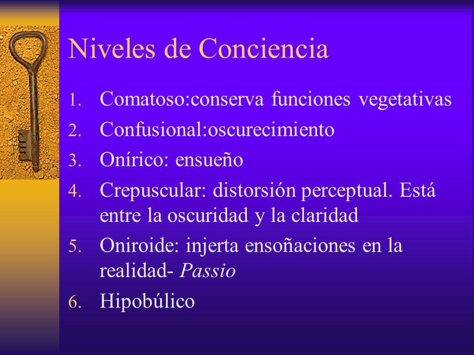 Niveles de Conciencia Comatoso:conserva funciones vegetativas