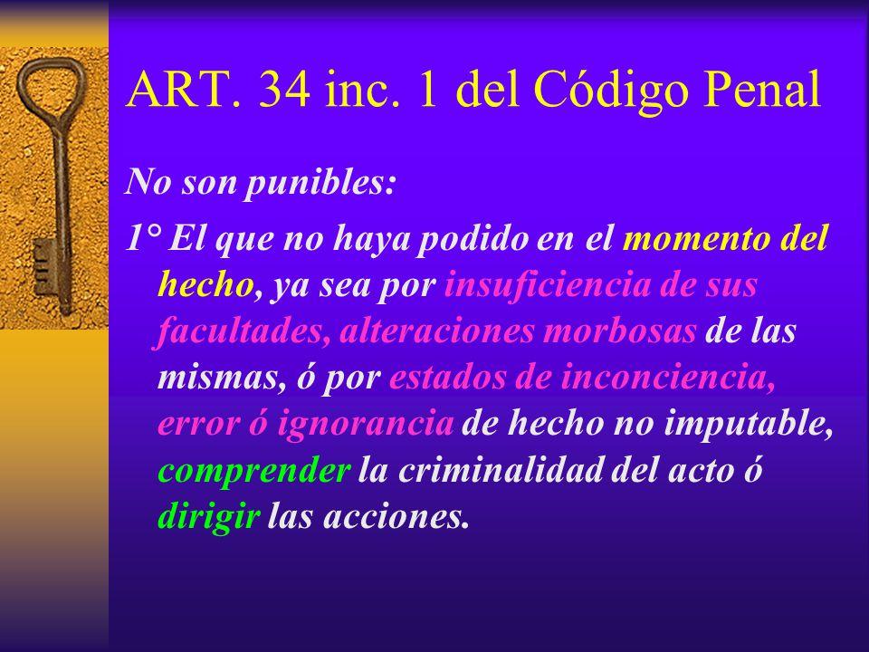 ART. 34 inc. 1 del Código Penal