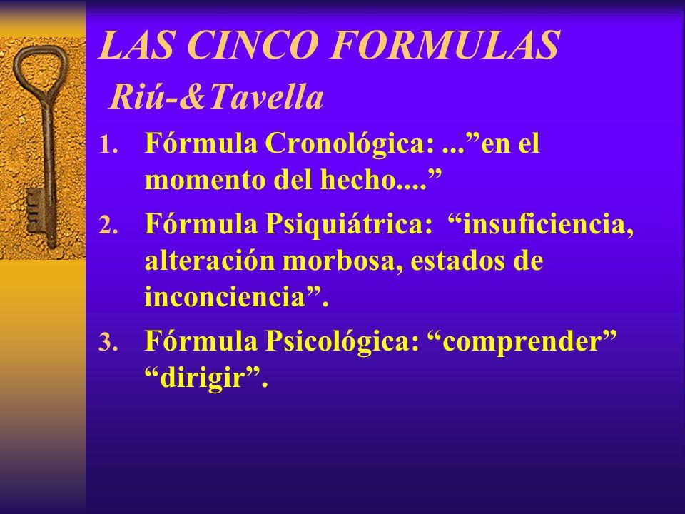LAS CINCO FORMULAS Riú-&Tavella