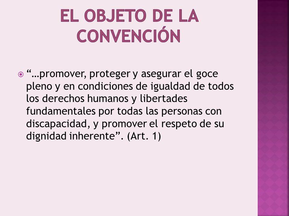 El objeto de la Convención