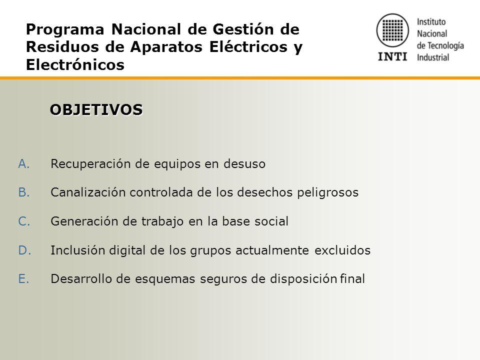 Programa Nacional de Gestión de Residuos de Aparatos Eléctricos y Electrónicos