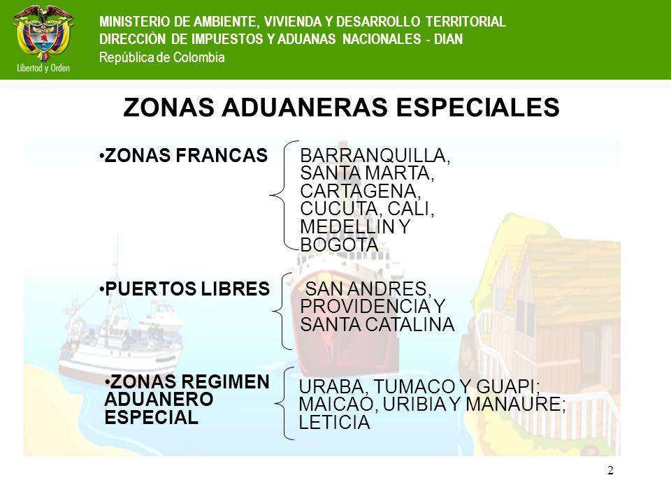 ZONAS ADUANERAS ESPECIALES