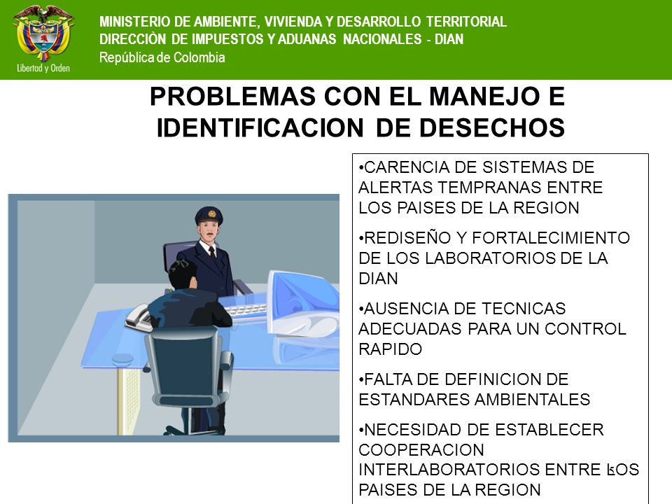 PROBLEMAS CON EL MANEJO E IDENTIFICACION DE DESECHOS