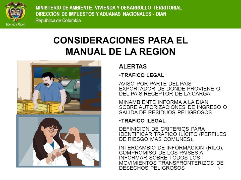 CONSIDERACIONES PARA EL