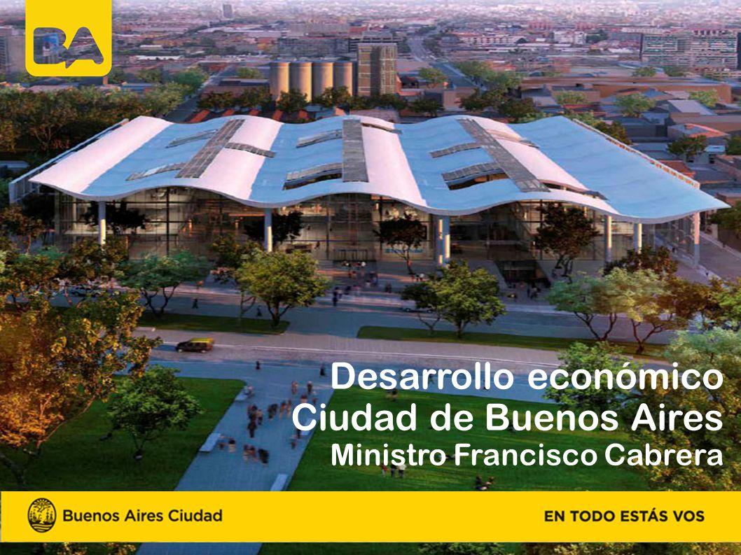 Desarrollo económico Ciudad de Buenos Aires Ministro Francisco Cabrera