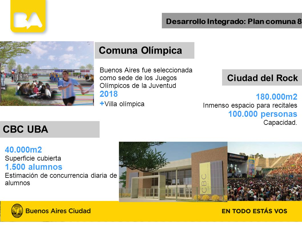 Desarrollo Integrado: Plan comuna 8