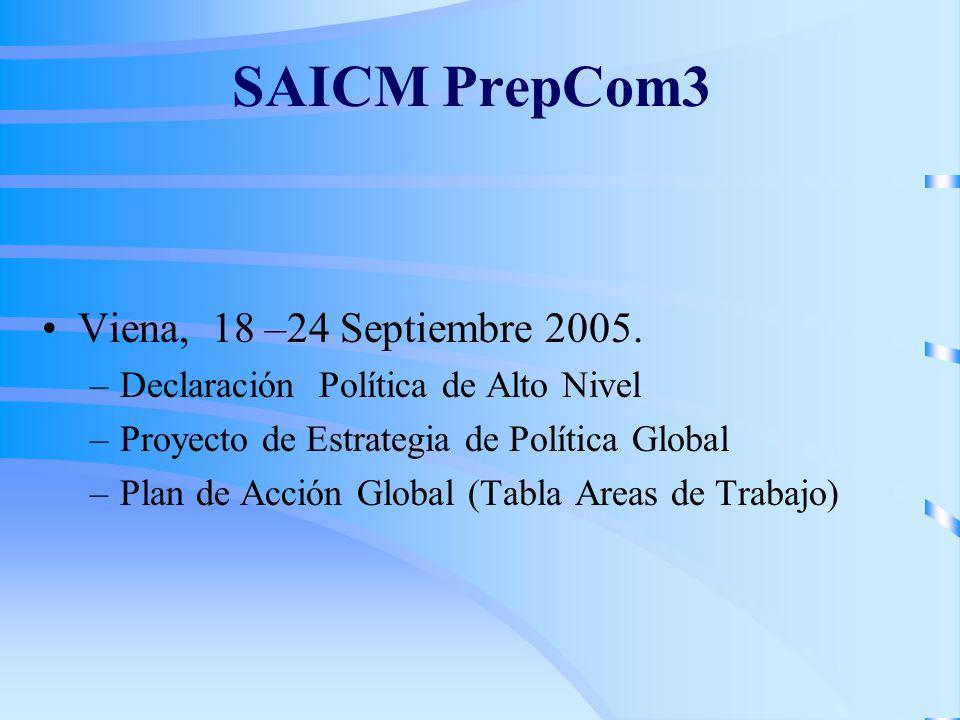 SAICM PrepCom3 Viena, 18 –24 Septiembre 2005.