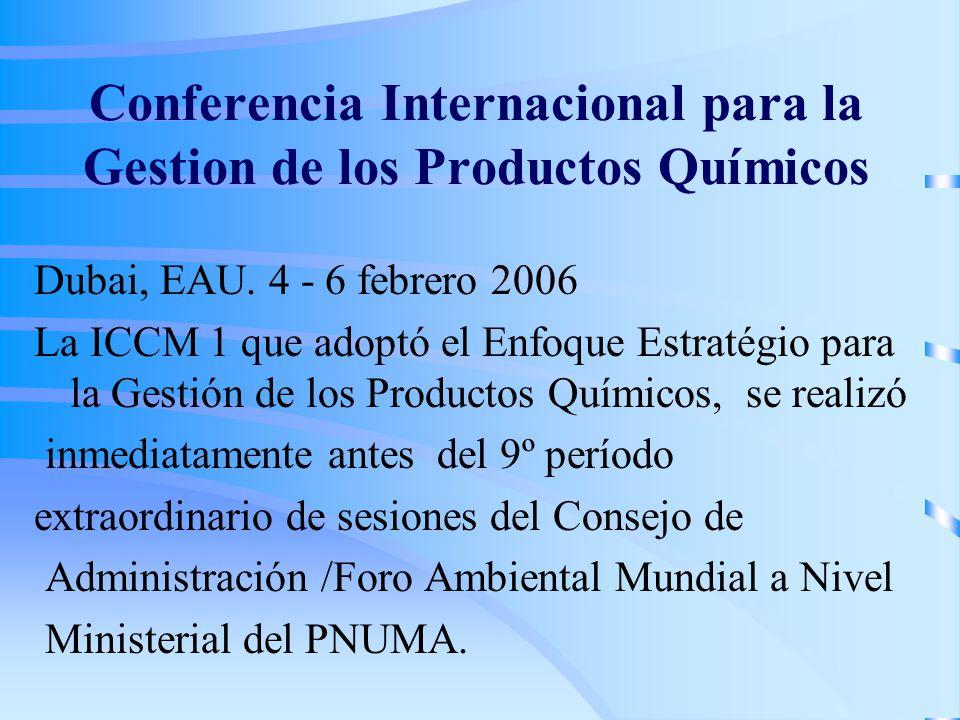 Conferencia Internacional para la Gestion de los Productos Químicos