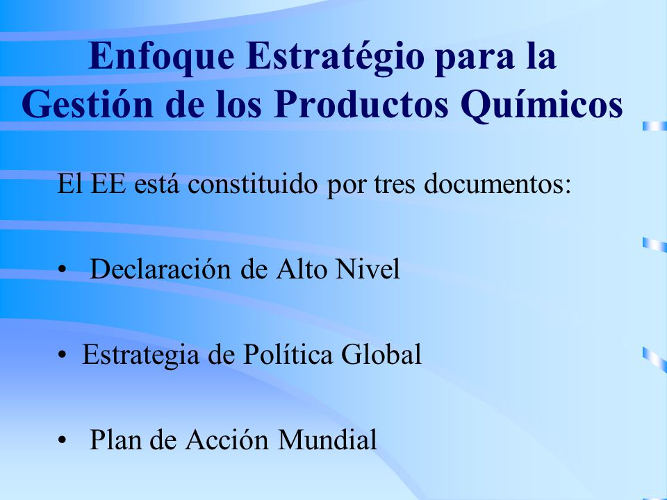Enfoque Estratégio para la Gestión de los Productos Químicos