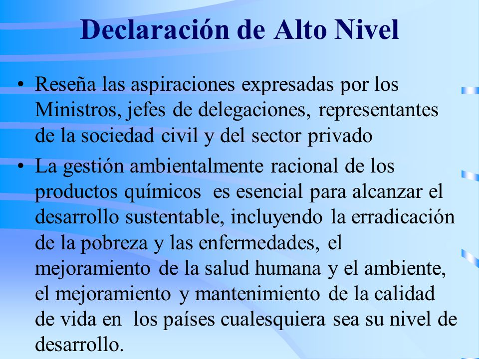 Declaración de Alto Nivel