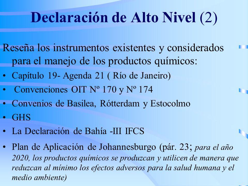 Declaración de Alto Nivel (2)