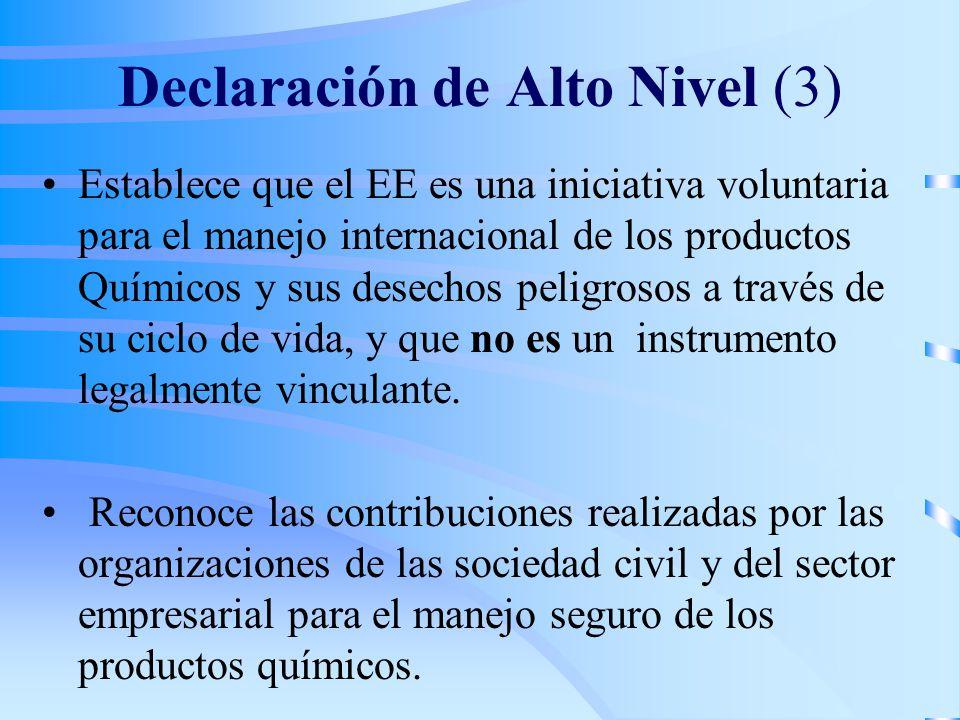 Declaración de Alto Nivel (3)